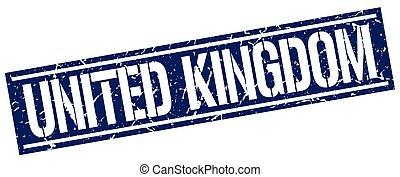 United Kingdom blue square stamp