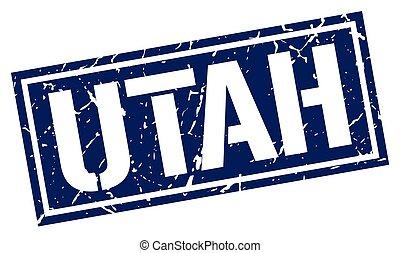 Utah blue square stamp