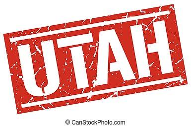 Utah red square stamp
