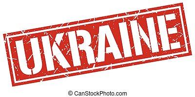 Ukraine red square stamp