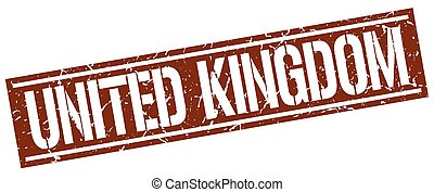 United Kingdom brown square stamp