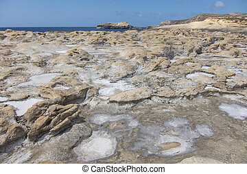 Salt Pans on Gozo island - Little salt pans on Maltese Gozo...