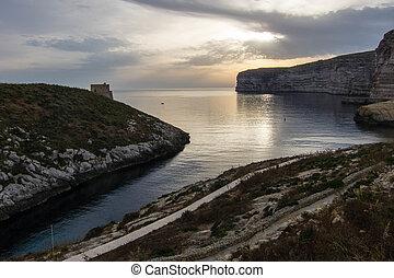 Gozo Xlendi Bay - View over Xlendi Bay on Gozo island
