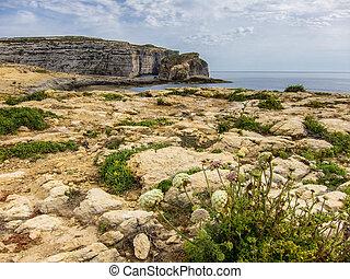 Dwejra Fungus Rock Gozo - Fungus Rock near Dwejra on Gozo...