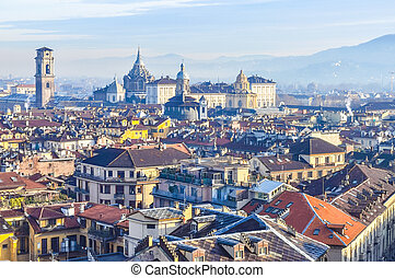 HDR Turin view - High dynamic range (HDR) City of Turin...