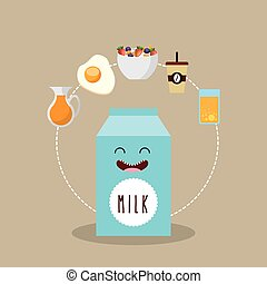 delicious and nutritive breakfast icon vector illustration...