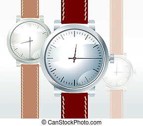 wristwatch - vector wristwatch on white background
