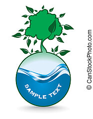 eco design - green eco design - vector illustration