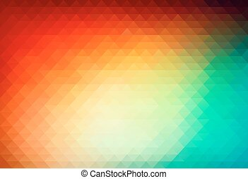 vector background from triangle polygons - Abstract vector...
