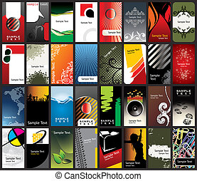 business card templates - vector illustration