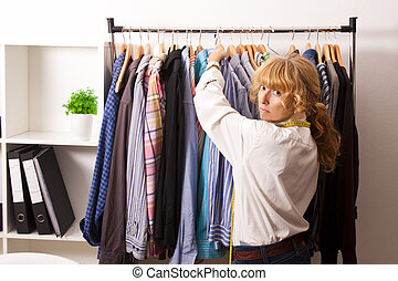 kaufmannsladen, frau, Mode, einzelhandel