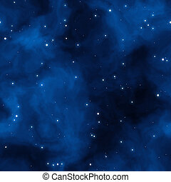 blue space starfield - large field of stars with blue...