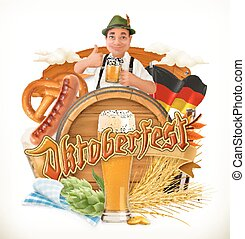 Munich Beer Festival Oktoberfest, the vector can also be...