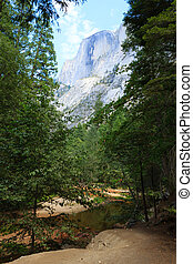 Half Dome Rock , the Landmark of Yosemite National...