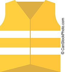 Protective vest vector illustration. - Orange protective...