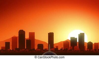 Denver Colorado USA America Skyline Sunrise Take Off - Very...