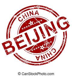 stämpel,  Beijing, röd