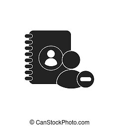 directory telephone with social media icon vector...