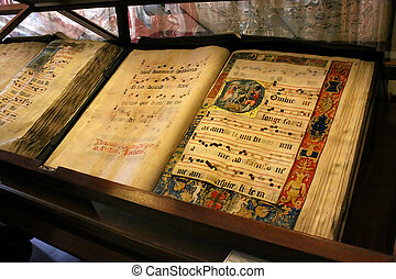 Choral Book - A rare 500 year old hand painted page from the...