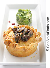 Chicken & Mushroom Pie - chicken & mushroom pie served with...