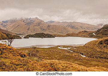 Scenic View Of Atillo Lagoon, Ecuador