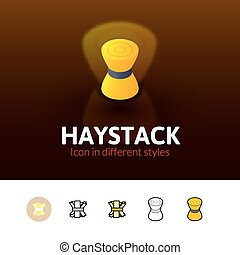 Haystack icon in different style - Haystack color icon,...