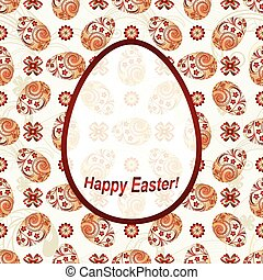 Greeting Card Happy Easter with a place for an inscription,...