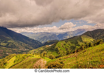 Andes Mountains In Rural Ecuador Displaying Agriculture...