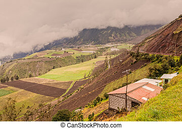 Farmers In The Peaks Of The Andean Cordillera