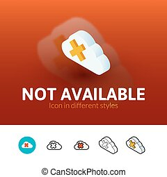 Not aviable icon in different style - Not aviable color...