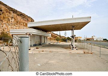 abbandonato, tracciato,  gas, stazione,  66, lungo