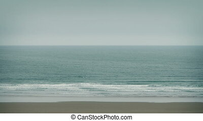 Beach Shore Landscape - Calm sea shore with waves breaking...