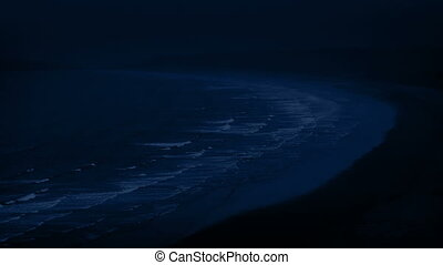 Beach Landscape At Night
