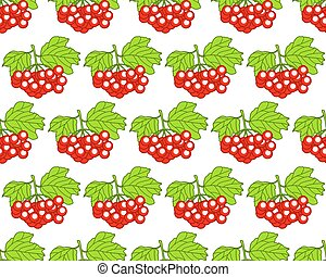 Arrowwood fruits pattern - Seamless pattern of the arrowwood...