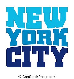 T shirt typography New York blue - T shirt typography...