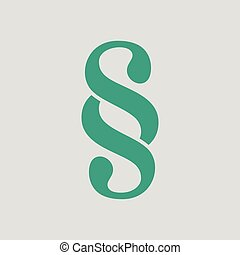 Paragraph symbol icon. Gray background with green. Vector...