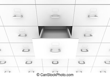 Open drawer - Filing Cabinet