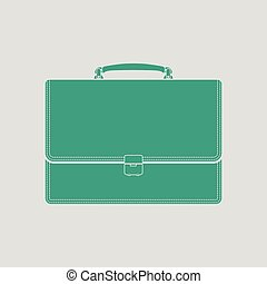 Suitcase icon Gray background with green Vector illustration...