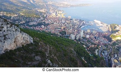 Aerial Panoramic View of Monaco - Aerial Panoramic View of...