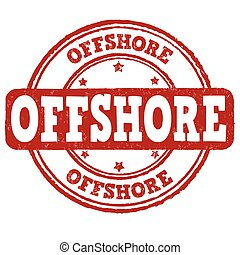 Offshore sign or stamp - Offshore grunge rubber stamp on...