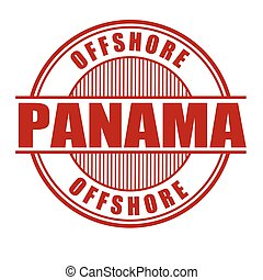 Panama offshore sign or stamp - Panama offshore grunge...