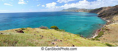Majestic coastline of Saint Kitts - The fabulous coastline...