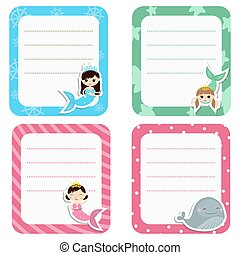 Set of cute creative cards with gir