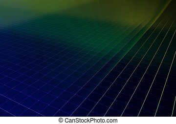 Silicon wafer 3d render