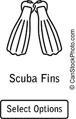 Icon fins scuba diving equipment