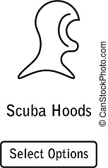 Icon hood scuba diving equipment
