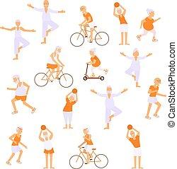 Healthy active lifestyle retiree