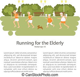 Elderly people doing exercises. Healthy lifestyle, active...
