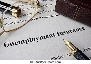 Unemployment insurance concept