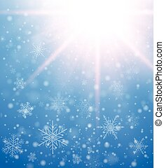 Winter frozen background with snowflakes, vector christmas...